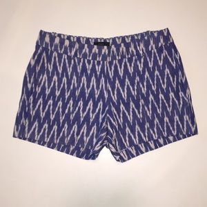 J. Crew - Blue Zigzag Ikat - 4 in. Cotton Short